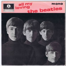 BEATLES All My Loving / Ask Me Why / Money / PS I Love You (Parlophone GEP 8891) Denmark 1964 PS EP