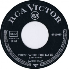 SANDIE SHAW Those Were The Days / One More Lie (RCA 47-15080) Germany 1968 45