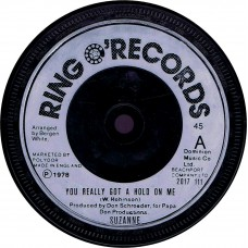 (RingO 2017111) SUZANNE You Really Got A Hold On Me UK 1978 CS 45 (Ringo's label)
