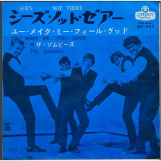 ZOMBIES She's Not There / You Make Me Feel Good (London HIT 422) Japan 1964 PS 45