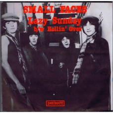 SMALL FACES Lazy Sunday / Rollin'Over (Immediate 064) UK 1986 reissue PS 45