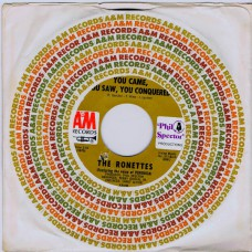 RONETTES You Came You Saw You Conquered / Oh I Love You (A&M 1040) US cs 45