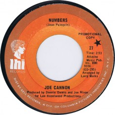 JOE CANNON Numbers / Me And The Wine and The City Light (LHI 27) USA 1970 45