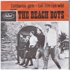 BEACH BOYS California Girls / Let Him Run Wild (Capitol HFC 1052) Holland 1965 PS 45