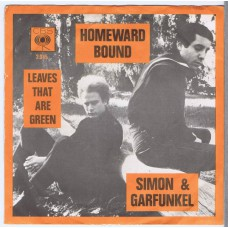 SIMON AND GARFUNKEL Homeward Bound / Leaves That Are Green (CBS 2.045) Holland 1966 PS 45