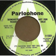 GAME It's Shocking What They Call Me / Help Me Mummy's Gone (exact repro of Parlophone R 5569) UK 1967 45