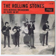 ROLLING STONES 19th Nervous Breakdown / As Tears Go By (Decca 12331) Holland 1966 PS 45