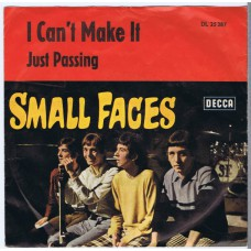 SMALL FACES I Can't Make It / Just Passing (Decca DL 25287) Germany 1967 PS 45