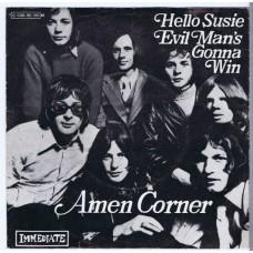AMEN CORNER Hello Susie / Evil Man's Gonna Win (Immediate 90130) Germany 1969 PS 45