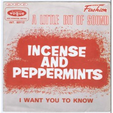 A LITTLE BIT OF SOUND Incense and Peppermints / I Want You To Know (Vogue INT 80112) France 1967 PS 45