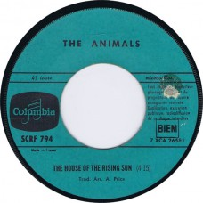 ANIMALS House Of The Rising Sun / Gonna Send You Back To Walker (Columbia SCRF 794) France 1964 cs 45