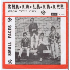 SMALL FACES Sha-La-La-La-Lee / Grow Your Own (Decca F 12317) Denmark 1966 PS 45