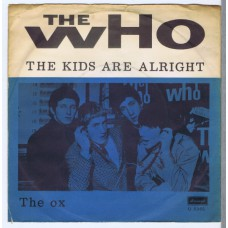 WHO,THE The Kids Are Alright / The Ox (Brunswick O 5965) Denmark 1966 PS 45