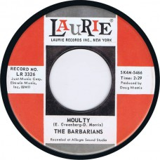 BARBARIANS Moulty / I'll Keep On Seeing You (Laurie 3326) USA 1966 45