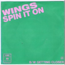 WINGS Getting Closer / Spin It On (Parlophone 62945) Holland 1979 PS 45