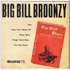 BIG BILL BROONZY Big Bill Blues EP (Melodisc EPM 7-65) UK 1956 PS EP