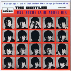 BEATLES A Hard Day's Night / If I Fell / I Should Have Known Better / I'm Happy Just To Dance With You (Odeon DSOE 16.619) Spain 1964 PS EP