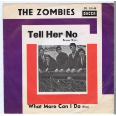 ZOMBIES Tell Her No / What More Can I Do (Decca DL 25168) Germany 1965 PS promo 45
