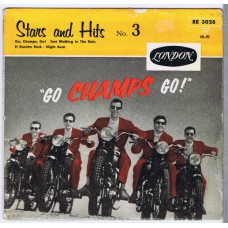 "CHAMPS Stars and Hits No.3 - ""Go Champs Go!"" (London RE 3028) Germany 1959 PS EP"