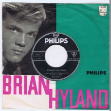 BRIAN HYLAND Warmed Over Kisses (Left Over Love) / Walk A Lonely Mile (Philips 320 030 BF) Germany 1962 PS 45