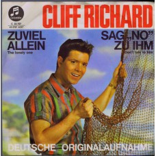 CLIFF RICHARD AND THE SHADOWS Zuviel Allein (Columbia 22707) Germany 1964 PS 45