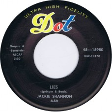 JACKIE SHANNON Lies / Trouble (DOT 15980) USA 1959 45 (Jackie DeShannon)