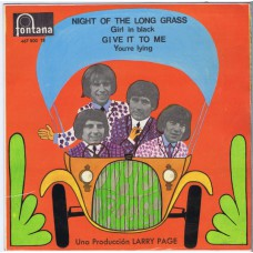 TROGGS Night Of The Long Grass / Girl In Black / Give It To Me / You're Lying (Fontana 467800) Spain 1967 PS EP
