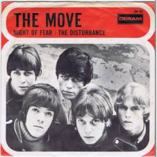 MOVE Night Of Fear / The Disturbance (Deram DM 109) Holland 1967 PS 45