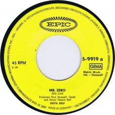 KEITH RELF Mr. Zero / Knowing (Epic 5-9919) Germany 1966 45 (Yardbirds)