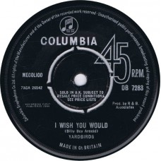 YARDBIRDS I Wish You Would / A Certain Girl (Columbia DB 7283) UK 1964 45