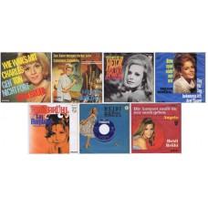 "HEIDI BRÜHL lot of 7 original 7"" 45RPM singles w/PS: made in Germany"