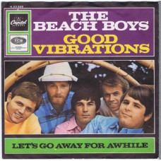 BEACH BOYS Good Vibrations / Let's Go Away For Awhile (Capitol K 23328) Germany 1966 PS 45
