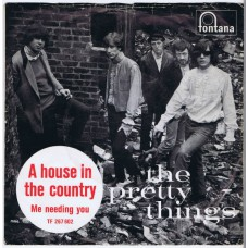 PRETTY THINGS A House In The Country / Me Needing You (TF 267 602) Denmark 1966 PS 45