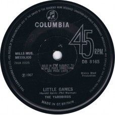 YARDBIRDS Little Games / Puzzles (Columbia DB 8165) UK 1967 'Solid Center' 45