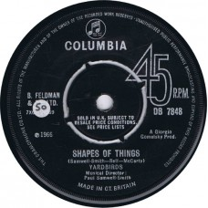 YARDBIRDS Shapes Of Things / You're A Better Man Than I (Columbia DB 7848) UK 1966 45