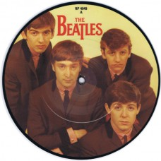 """BEATLES Love Me Do / P.S. I Love You (Parlophone RP 4949) UK 1982 7"""" picture disc single of 1962 recording 45"""