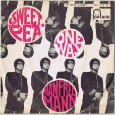MANFRED MANN Sweet Pea / One Way (Fontana 267716 TF) Holland 1967 PS 45