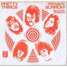 PRETTY THINGS Private Sorrow / Balloon Burning (Columbia DB 8494) Holland 1968 PS 45
