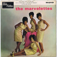 MARVELETTES Too Many Fish In The Sea / He's A Good Guy (Yes He Is) / You're My Remedy / Little Girl Blue (Tamla Motown TME 2003) UK 1965 PS EP