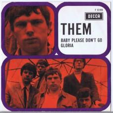 THEM Gloria / Baby Please Don't Go (Decca F.12 018) Holland 1967 PS 45