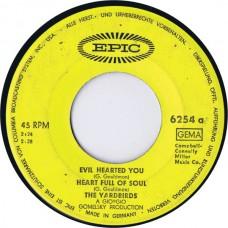 YARDBIRDS Evil Hearted You / Heart Full Of Soul / Still I'm Sad / I'm A Man (Epic 6254) Germany 1965 EP