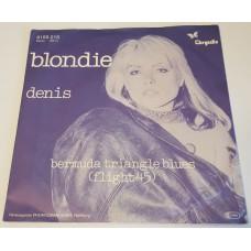 BLONDIE Denis / Bermuda Triangle Blues (Flight 45) (Chrysalis 6155 213) Germany 1978 PS 45