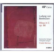 BEETHOVEN Missa in C op. 86 Frieder Bernius (Carus 83295) Germany 2013 CD