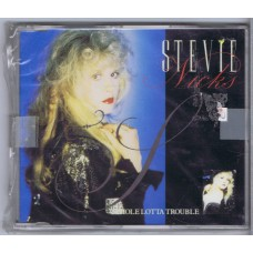 STEVIE NICKS Whole Lotta Trouble / Beauty and the Beast (Live) / Rooms On Fire (EMI CDEM 114) UK 1989 3-track CD