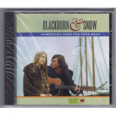 BLACKBURN AND SNOW Something Good For Your Head (Big Beat Records ‎CDWIKD 189) UK 1999 release of 60s recording CD