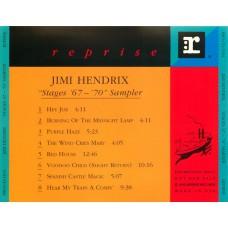 JIMI HENDRIX Stages '67-'70 Sampler (Reprise PRO-CD-5194) USA 1991 PROMO ONLY CD Sampler