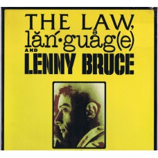 LENNY BRUCE The Law, Language and Lenny Bruce (Warner Bros 0698) USA 1974 LP