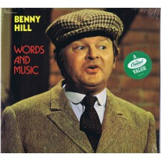 BENNY HILL Words and Music (Capitol SN 16139) USA 1980 re-issue of 1971 LP