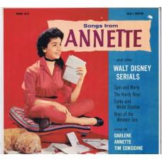 ANNETTE, T.CONSIDINE, DARLENE, J.DODD, B.EBSEN Songs From Annette And Other Walt Disney Serials (MM 24) USA 1958 Mono LP