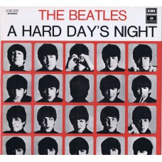 BEATLES A Hard Day's Night (Parlophone 3 C 062 - 04145) Italy 1976 reissue of 1964 LP